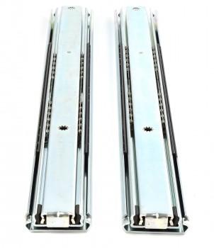 (Grundpreis 14,95€/Stk.) 1 Paar Vollauszug 500mm 130KG Schubladenschienen Teleskopauszug Schwerlastauszug Art.16221