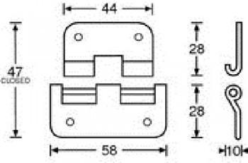 Scharnier Aushängescharnier groß schwere Ausführung 2251