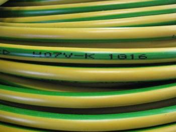 H07V-K Litze 25mm² gelb-grün Aderleitung Meterware