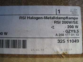 Radium RSI 200 W/SE GZY9,5