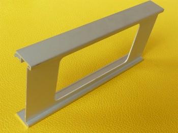 Geräteblende Alu natur 23,2 cm lang für 100mm Kanal Ausschnitt 14,7x7,6cm