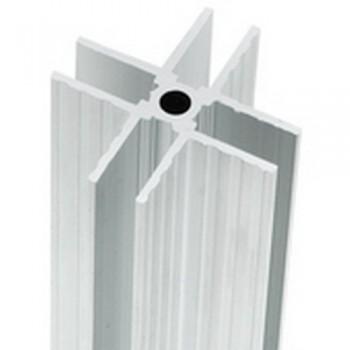 Alu X Profil für 9,5mm Materialstärke x-profil Aluprofil