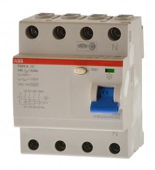 ABB F204 A-40 /0,03 L Null links Fehlerstromschutzschalter 2CSF204123R1400