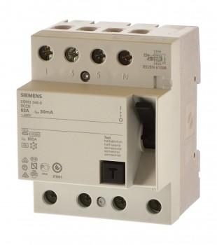 Siemens 5SM3344-4kk14 Fi 40A 0,03A Allstromsensitiv 30mA