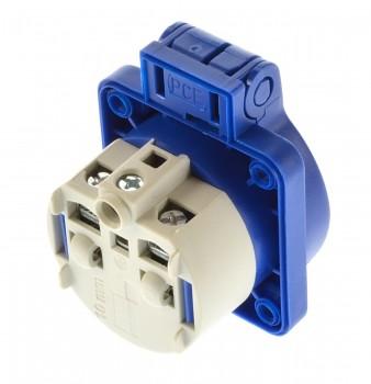 PCE 105-0b Einbausteckdose Steckdose Schuko blau