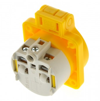 PCE 105-0e Einbausteckdose Steckdose Schuko gelb