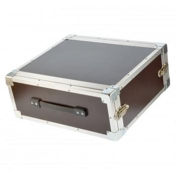 """DD Rack 4 He Flightcase 19"""" Deckel 4cm, flache Ecken"""