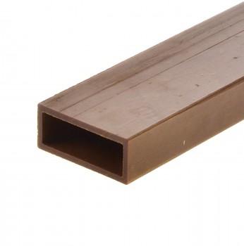 (Grundpreis 9,83€/m) Hartpapier Rohr Vierkant 60x3,5x1,5cm