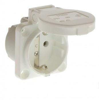PCE 105-0w Einbausteckdose Steckdose Schuko weiß