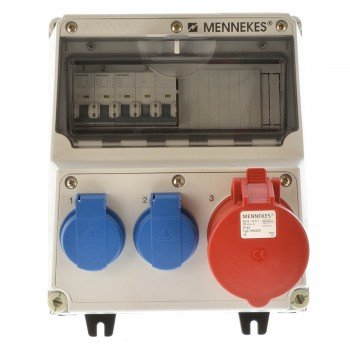 Mennekes 920011 Stromverteiler Amaxx 1x32A 2x 220V