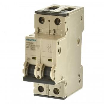 Siemens 5SY5220-7 Sicherungsautomat C20 2p. 10Ka