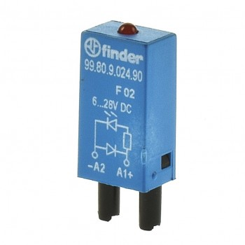 Finder 99.80.9.024.90 Modul LED + Diode 24VDC 9980902490