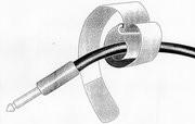 (Grundpreis 0,60€/Stk.) 10 Stk. KlettKabelbinder 16x1.6 cm grün  Metalllasche Klett Kabelbinder