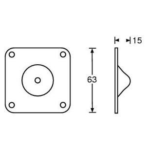 Gleitknopf 2,4 mm Stahl, Stapelfuß male 4937