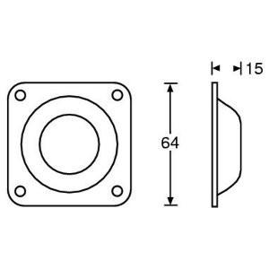 Gleitknopf 2,4 mm Stahl, Stapelfuß female 4938