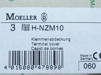 (Grundpreis 5,293€/Stk.) Vpe.3Stück Moeller H-NZM10 Klemmenabdeckung