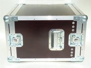 """DD Rack 8 He Flightcase 19"""" Rack Amprack Deckel 4cm"""