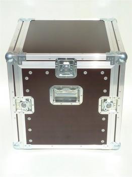 """Winkelrack Flightcase 19"""" Rack mit 3 Deckeln 10/10He R-Schiene aufstellbar"""