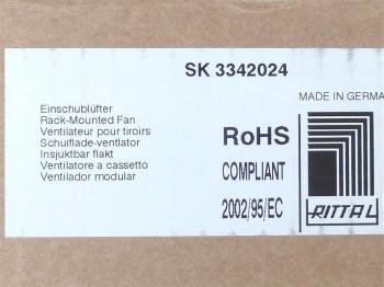 """Rittal SK3342.024 Einschublüfter für 482,6 mm (19"""") Luftleistung 320/480m³/h"""