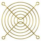 Lüftungsgitter für Lüfter 90x90mm gold