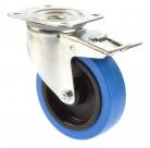 Tente 100mm Lenkrolle gebremst blau 150 Kg 3477UFR100P62 blue