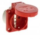 PCE 105-0r Einbausteckdose Steckdose Schuko rot
