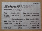 Schroff Lüftereinschub mit 2 Lüftern 220Volt Drucklüfter