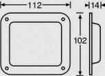 Einbauschale 112x102mm 38080