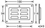 Einbauschale Lüftungsschale 166x114 mm 8791