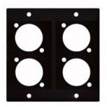 Modul 2/10  4 XLR D für Modulsystem Modulrahmen ARTCASE