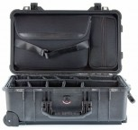 Peli 1510 SC Studio Case schwarz mit Trennwandsystem + Laptop Tasche - Pelikoffer  Pelibox Pelicase