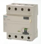 Siemens 5SV3346-6KL Fi Schalter 63/0,03 4polig N-links