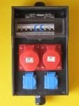 ERSO Stromverteiler 32A Wandverteiler Gummi 32-16-2x220