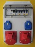 PCE Stromverteiler 32A ip44 Wandverteiler mit Fi-Schalter