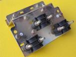 Anschlußplatte für Stromverteiler  Klemme Zugentlastung