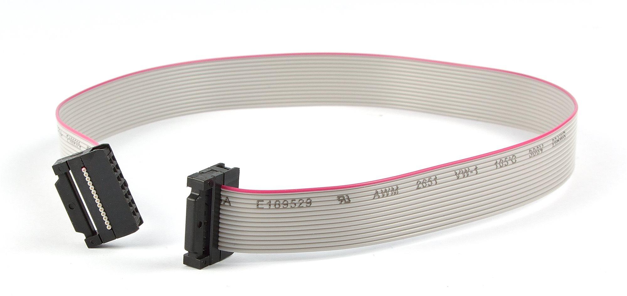Flachbandkabel 14 polig mit Pfostenstecker/ 40cm -15706