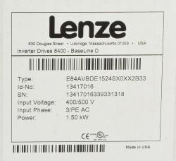Lenze E84AVBDE1524SX0XX2B33 Frequenzumrichter 1,5KW 400/500V 3/PE AC