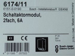 Busch Jaeger 6174-11 Schaltaktormodul 2 fach 6A