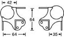Kugelecke groß gestuft für 35 mm 41046