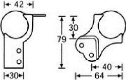 Kugelecke groß mit int.L-Winkel gestuft für 30mm 41081
