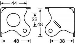 Flache Ecke verzinkt mit Gleitkuppe1,0mm Stahl 4005