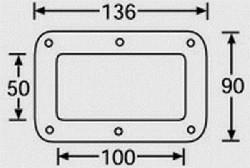 Einbauschale 136x90mm verzinkt