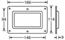 Einbauschale Bar Code Scan Fenster 8795