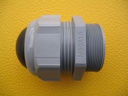 Kabelverschraubung M50 Polyamid Klemmbereich 32-38 mm grau