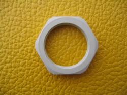 Gegenmutter Kunststoff grau M20 hellgrau