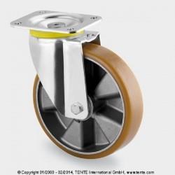 Tente 200mm Lenkrolle Schwerlastrolle 800 Kg 4680ITP200P63 Flat