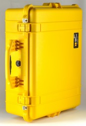 Peli 1600 gelb mit Würfelschaumstoff Pelikoffer Pelicase