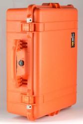 Peli 1600 orange mit Würfelschaumstoff 1600-004-150E