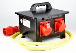 Elspro 1333123 Stromverteiler 32A auf 2x 16A / Fi Schalter