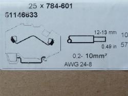 Wago 784-601 2-L-Durchgangsklemme 10qmm 784-601 grau 0,2-10qmm